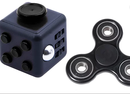 Fidget Cube and Fidget Hand Spinner Set with Ceramic Bearings for ADHD-Stress-