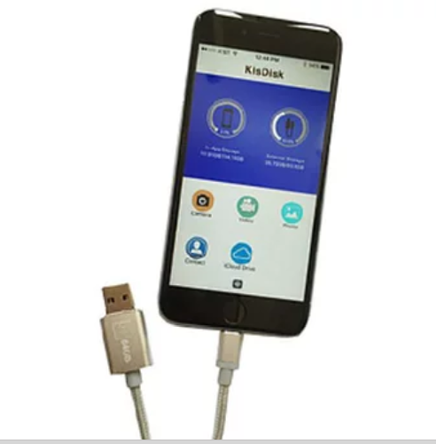 Apple Certified Lightning Charging Cable with Built-In Memory for iPhone & iPad
