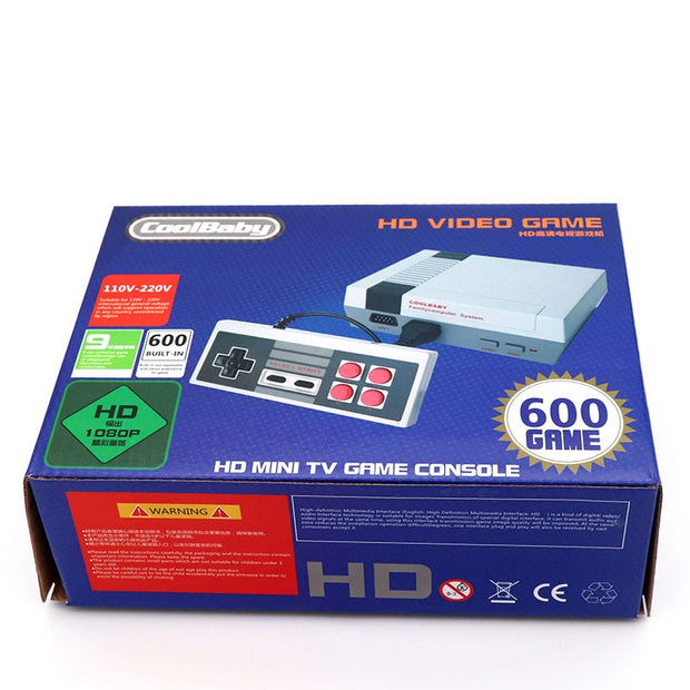 CoolBaby Classic HDMI Game Console Retro Video Game Nostalgia 8 Bit Output TV Games Built-in 600/500/620  Games