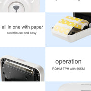 Peripage A6 Bluetooth handheld photo printer Small printer mini printer pocket printer for IOS Android system phone