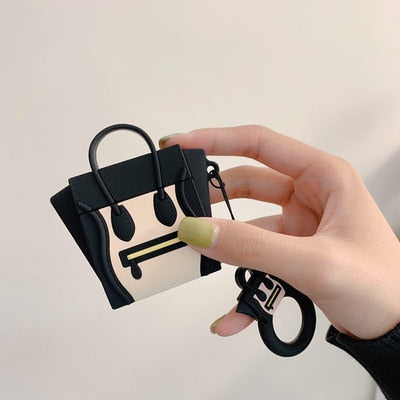 Luxury Women Smile Face Handbag Case for Apple Airpods