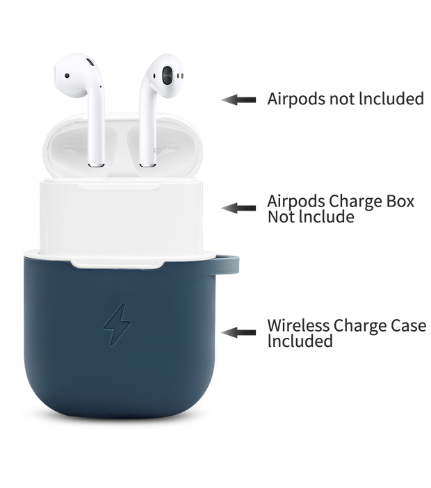 QI Wireless Charging Receiver Protective Silicone Cover For AirPods apple