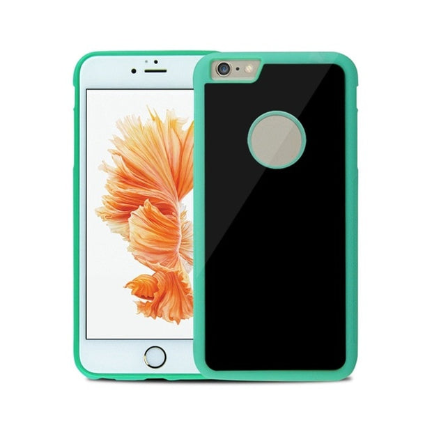 Anti Gravity Phone Bag Case For iPhone X 8 7 6S Plus Antigravity TPU Frame Magical Nano Suction Cover Adsorbed Car Case