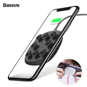 Baseus Suction Cup Qi Wireless Charger For iPhone Xs Max Xr X 8 Plus 10W Fast Wirless Wireless Charging Pad For Samsung S9 S8 S7