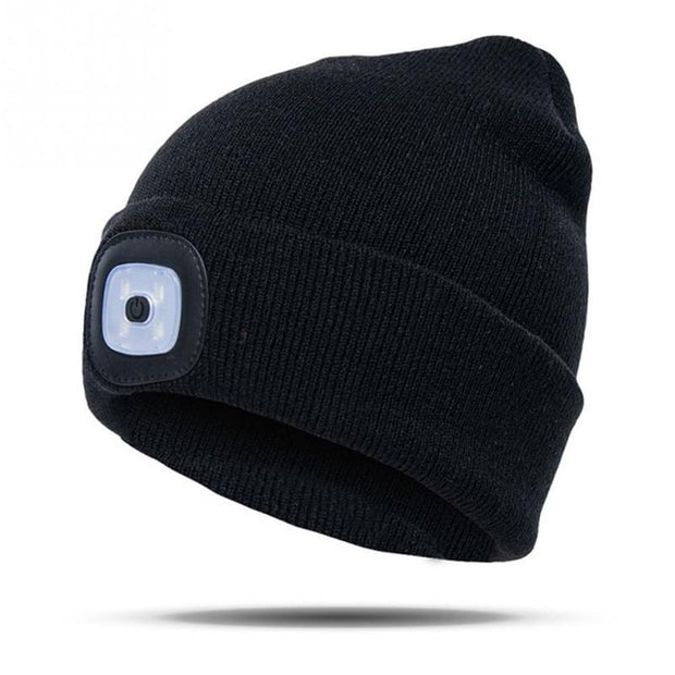Unisex Beanie LED Recharable Lighted Hat