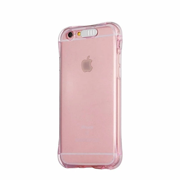 LED Flash TPU Case For iPhone X XS XR XS Max Cases Transparent Luminous Back Cover For iPhone 5 5s 6 6S 7 8 Plus Remind incoming