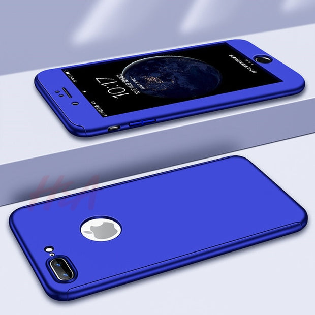 360 Degree Phone Case  For iPhone XS MAX XR X Case For iPhone 6 6s 7 8 Plus Full Cover Case 5 5S SE Cover Case