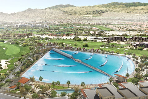 The wave pool will feature a 5.5 acre surfable area