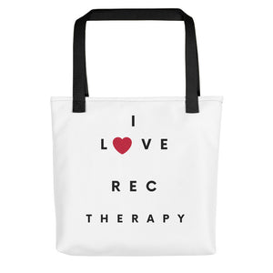 I Love Rec Therapy Tote bag