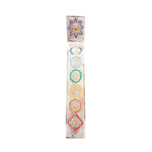 Load image into Gallery viewer, Large Wooden Chakra Incense Holder