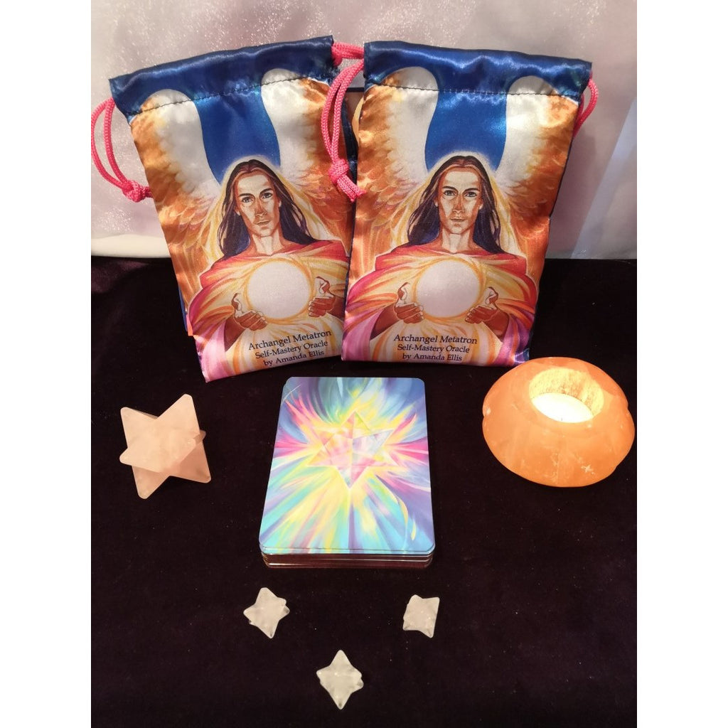 Satin Drawstring Bag for your Metatron Oracle Cards