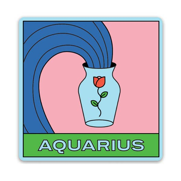 Aquarius Vinyl Sticker