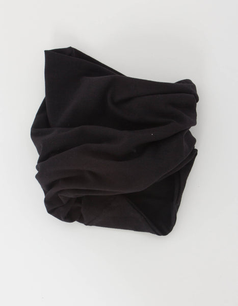 Double Layer Neck Gaiter in Black