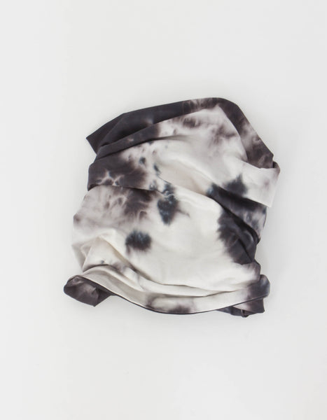 Double Layer Tie Dye Neck Gaiter in Black