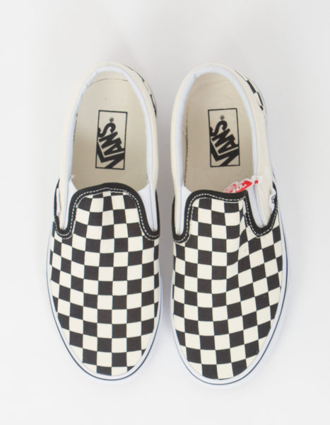 Classic Slip-Ons in Black and White Checker