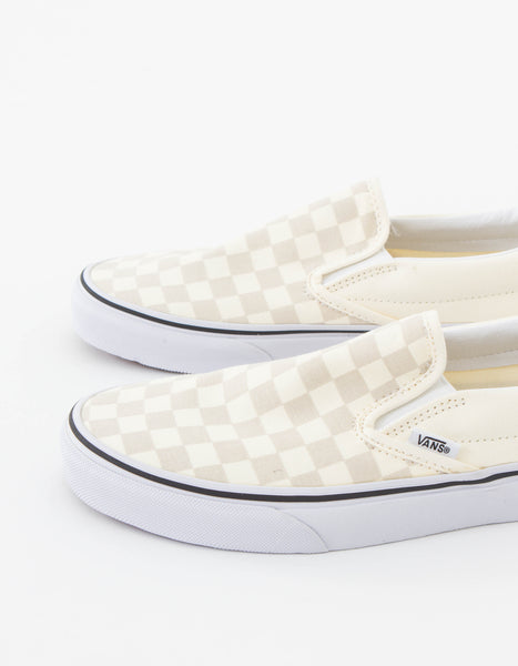 Classic Slip-On in White Check
