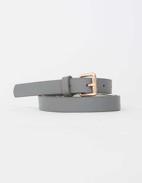Grey Basic Belt