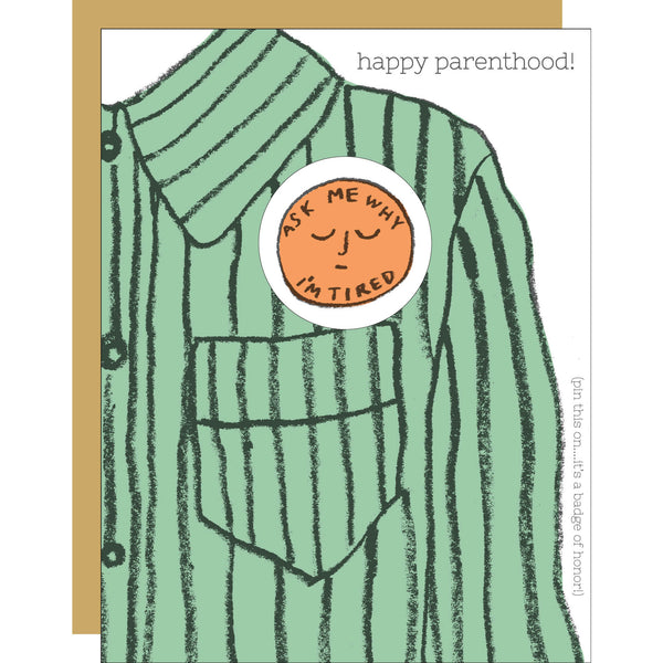 Happy Parenthood Badge Card