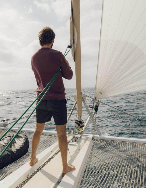 Windowpane Sock in Blue