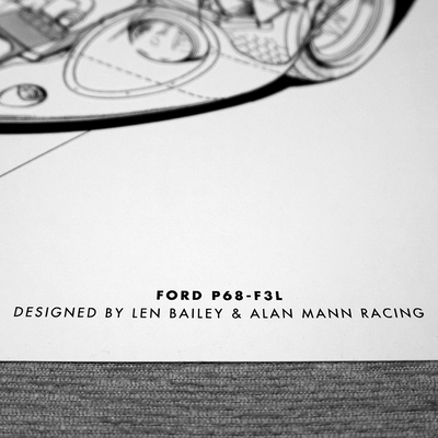 FORD P68-F3L PRINT BY THEO PAGE (A3 SIZE)