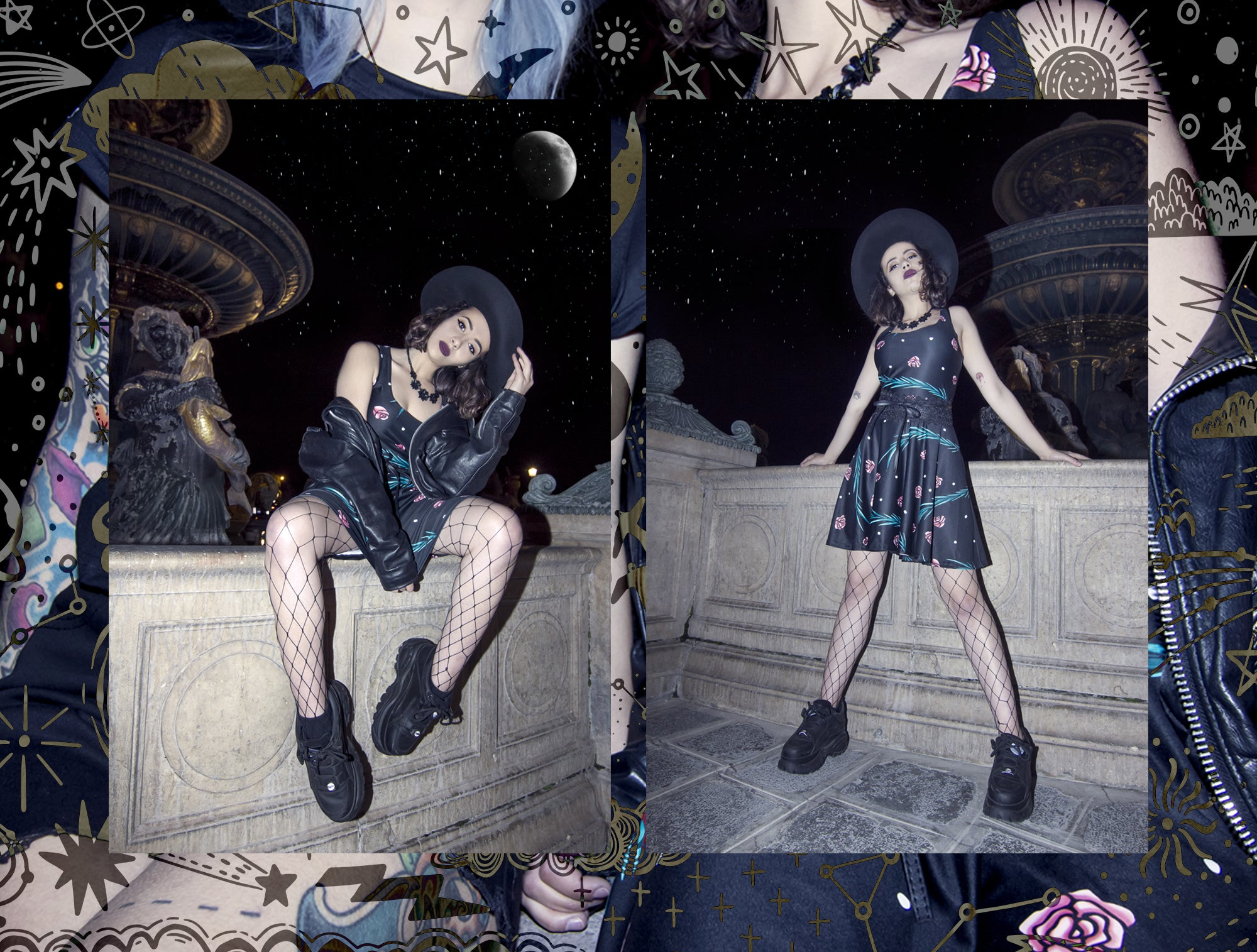 night owls witch grunge fashion mrs.freaks lookbook spring summer 2019