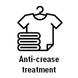 Anti crease treatment your Mrs Freaks clothes will be perfect after washing no need to iron