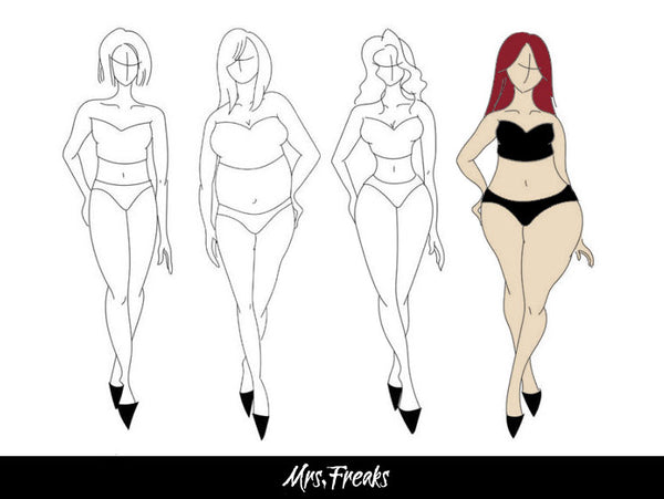blog article - how to dress a pear shapped body type Mrs Freaks