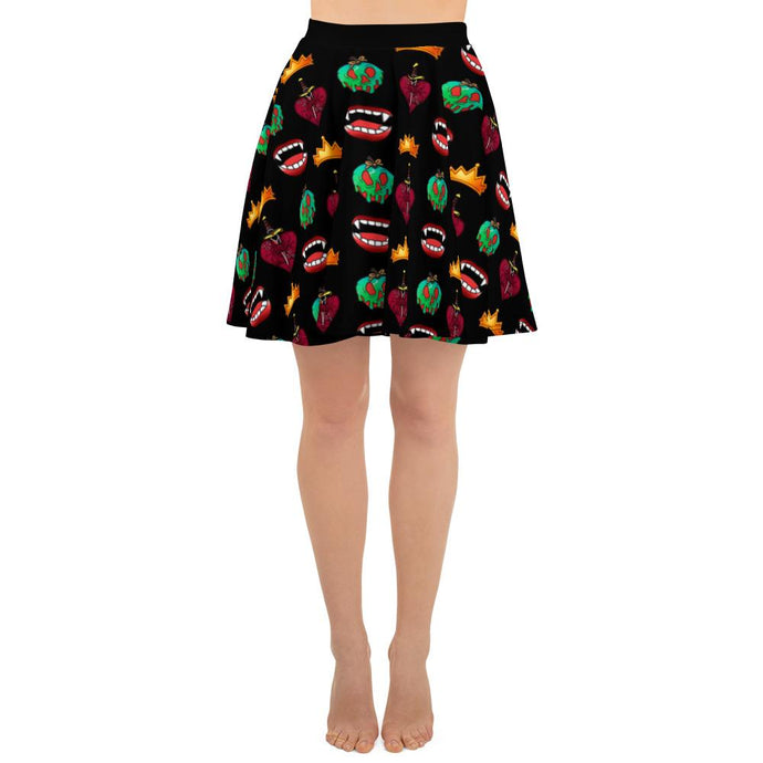 DARK QUEEN SKATER SKIRT - Mrs Freaks