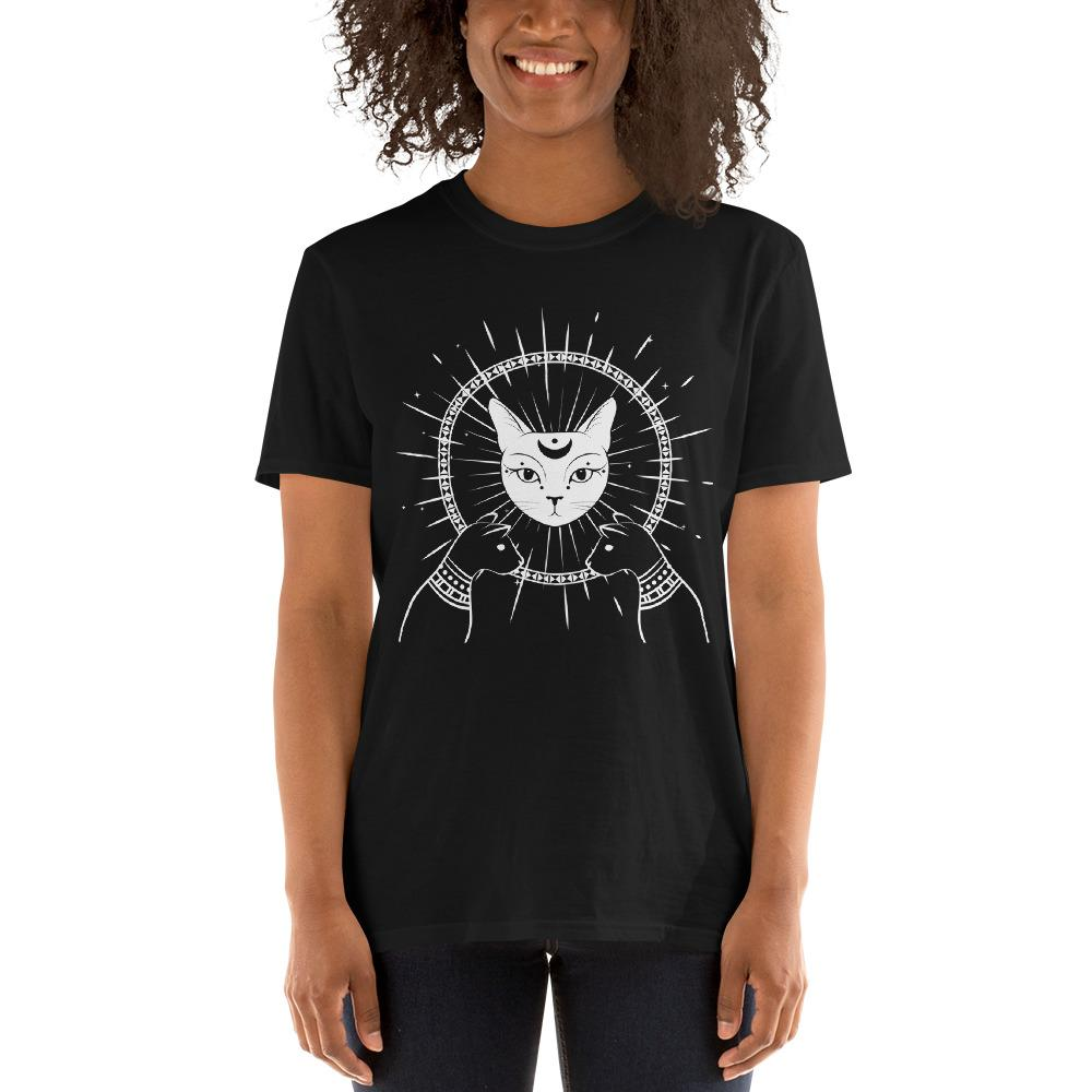 LUNAR CAT GODDESS WITCH T-SHIRT - Mrs Freaks