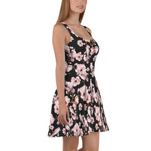 Load image into Gallery viewer, PINK POETRY SAKURA FLOWERS AND PARROT SKATER DRESS - Mrs Freaks