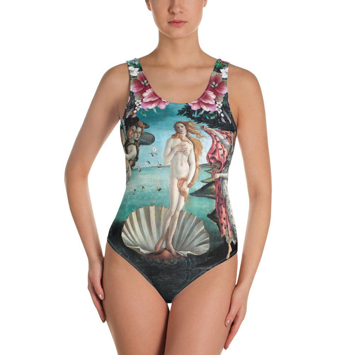 ARTISTIC ALTERNATIVE FLOWERFUL VENUS ONE-PIECE SWIMSUIT - Mrs Freaks