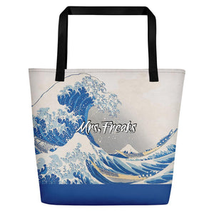 ARTISTIC KANAGAWA WAVE BY HOKUSAI CITY BAG - Mrs Freaks