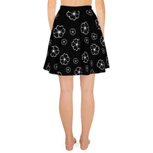 Load image into Gallery viewer, CHERRY BLOSSOM BLACK SKATER SKIRT - Mrs Freaks