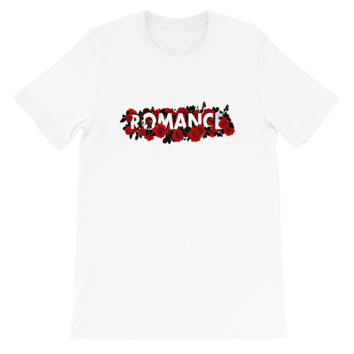 SHORT SLEEVES WHITE BLACK OR NUDE T-SHIRT ROMANCE - Mrs Freaks