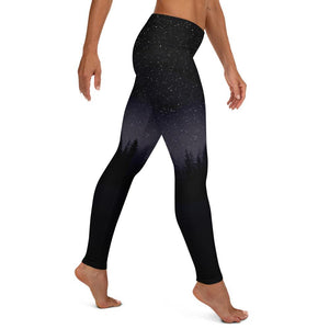 LEGGINGS PRINTED STAR NIGHT AND FIR TREES - Mrs Freaks