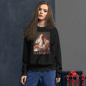PAINTING PRINTED DAMMIT SWEATSHIRT UNISEXE - Mrs Freaks