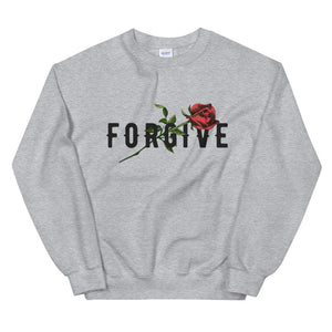 UNISEX AESTHETIC SWEATSHIRT WHITE GREY OR RED  FORGIVE - Mrs.Freaks