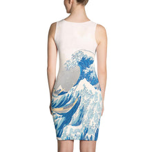 Load image into Gallery viewer, KANAGAWA WAVE BODYCON ALTERNATIVE DRESS - Mrs Freaks