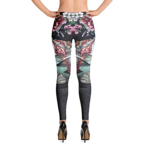 ARTISTIC ALTERNATIVE FLOWERFUL VENUS LEGGINGS - Mrs Freaks
