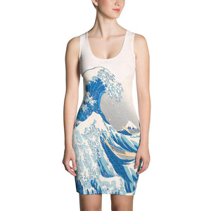 KANAGAWA WAVE BODYCON ALTERNATIVE DRESS - Mrs Freaks