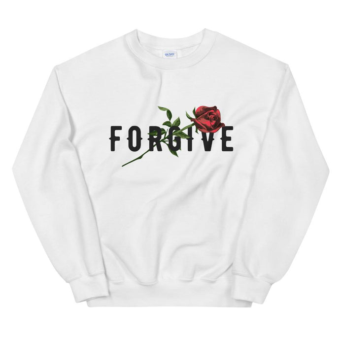 UNISEX AESTHETIC SWEATSHIRT WHITE GREY OR RED  FORGIVE - Mrs Freaks