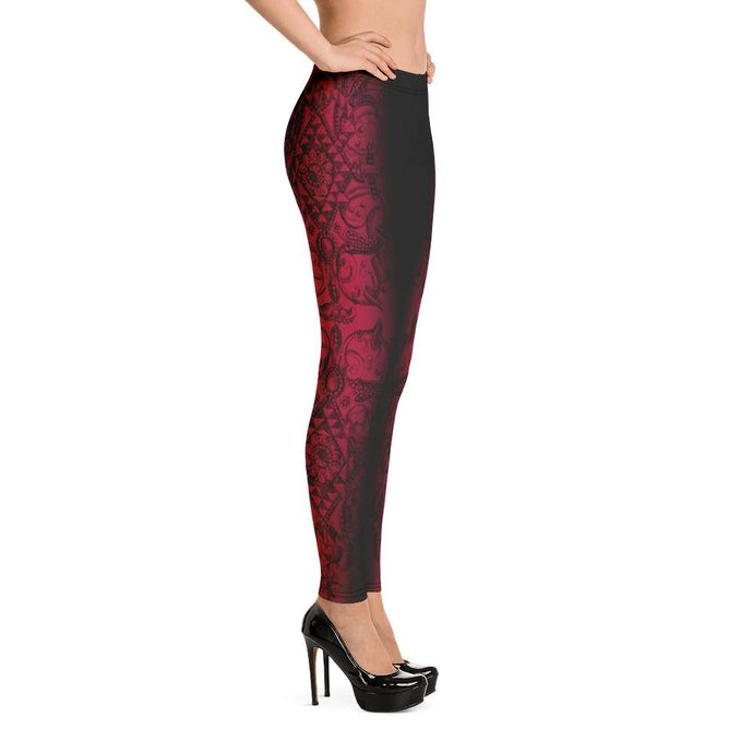 PRINTED VIBRANT DARK MAGENTA LEGGINGS - Mrs Freaks