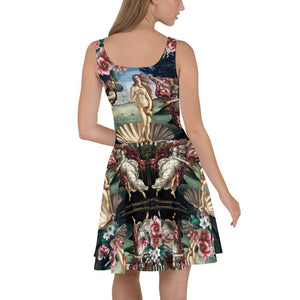 VENUS FLOWERS BOTTICELLI SKATER DRESS - Mrs Freaks
