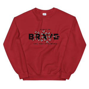 UNISEX SWEATSHIRT WHITE OR RED ALWAYS STRONGER SNAKE - Mrs.Freaks