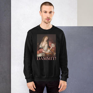 PAINTING PRINTED DAMMIT SWEATSHIRT UNISEX - Mrs.Freaks