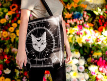 Load image into Gallery viewer, LUNAR CAT GODDESS WITCH BAG - Mrs Freaks