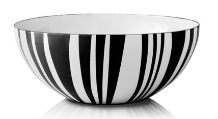 Black Stripes Enamel Bowls