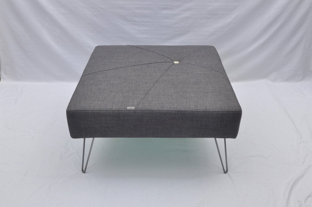Starburst One Button Square Ottoman