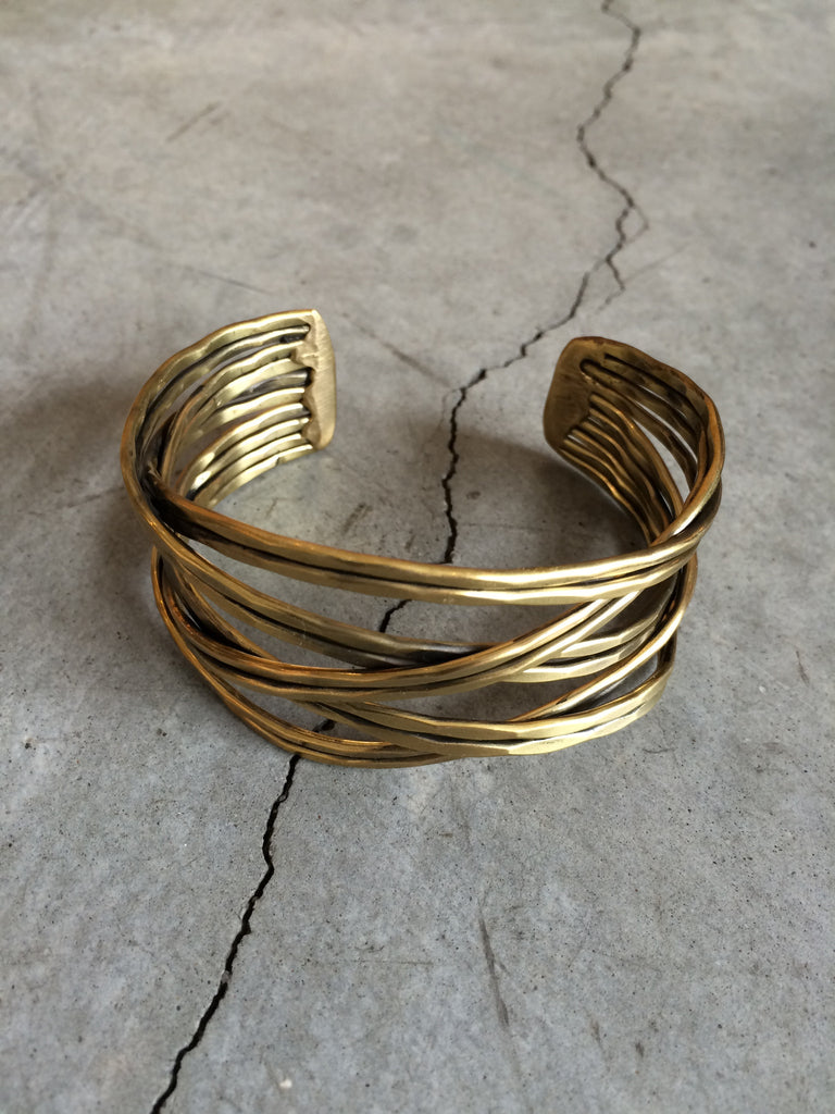 Cross Metal Cuff
