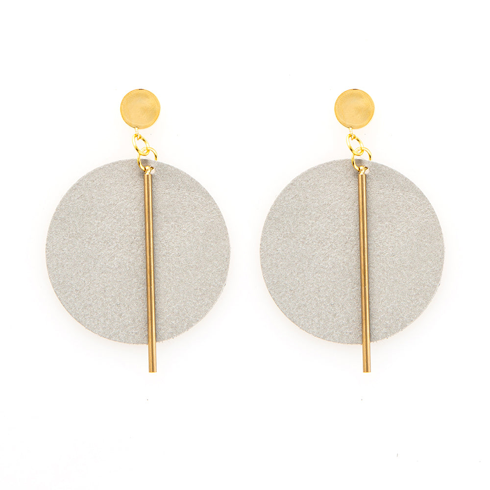 Leather Large Circle Earrings